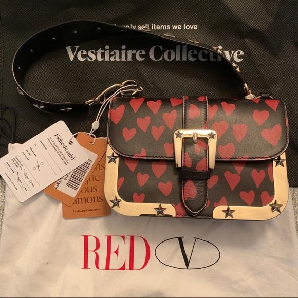 5a20e60497e Valentino Stud Heart Bag. M 5c3d078e6a0bb742135e6245